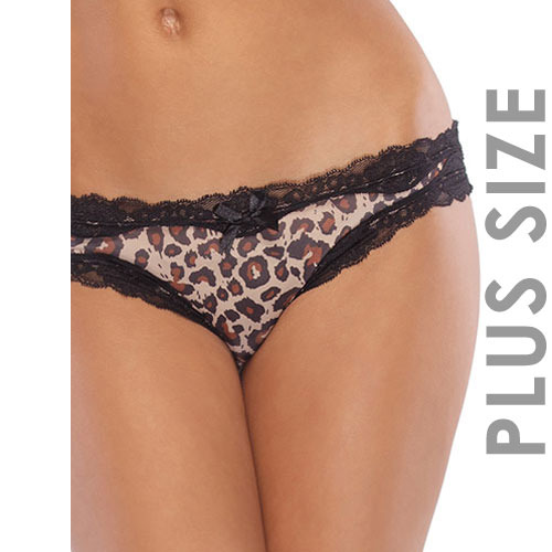 Coquette Queen Crotchless Leopard Print Panty