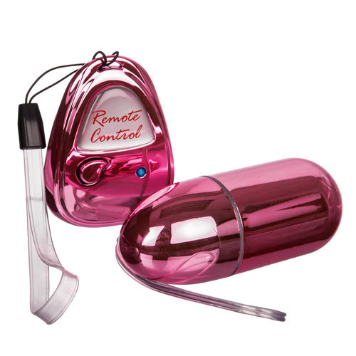 Erotic Pleasures Metallic Remote Control Egg vibrator - Bondara