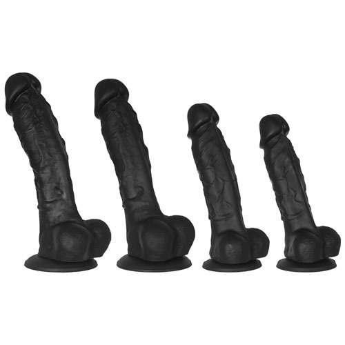 Black Mr Realist - Luxury Silicone Dildo