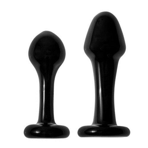 Black Orb Glass Butt Plug