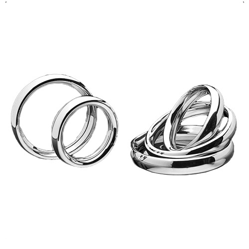 Stainless Steel Donut Cock Ring 5 Sizes