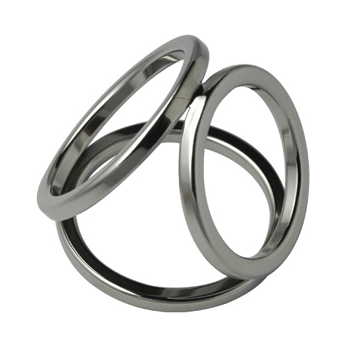 Triple Cock Ring Stainless Steel