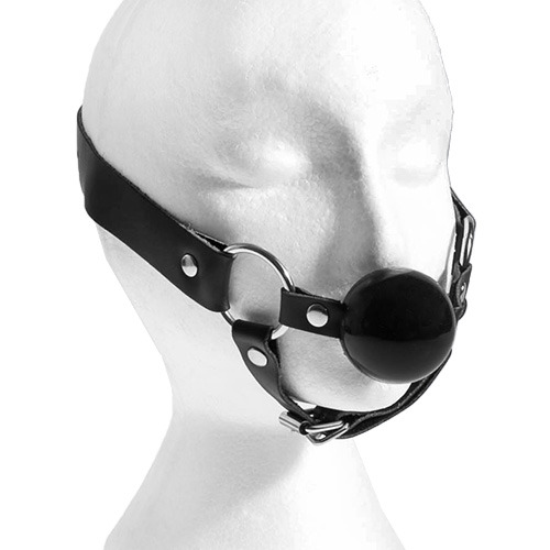 Bondage Ball Gag with Chin Strap - Bondara